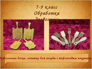 Разделочные доски, лопатки для посуды с тефлоновым покрытием. 7-9 класс Обраб