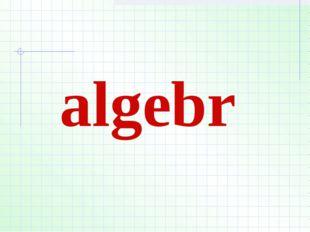 algebr