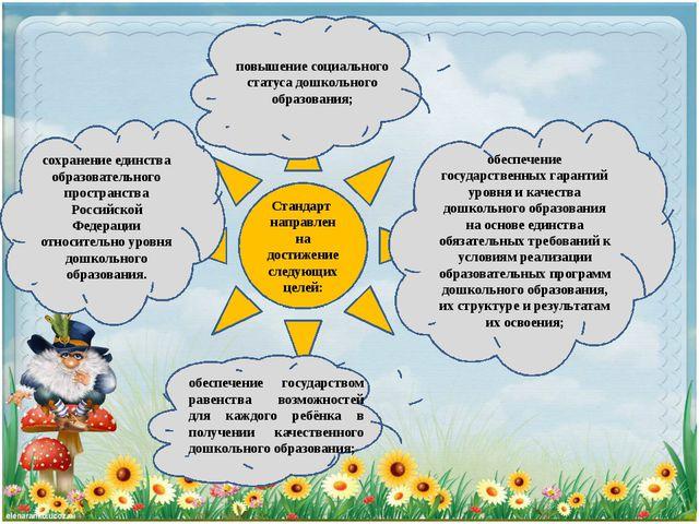 Стандарт направлен на достижение следующих целей: повышение социального стату...