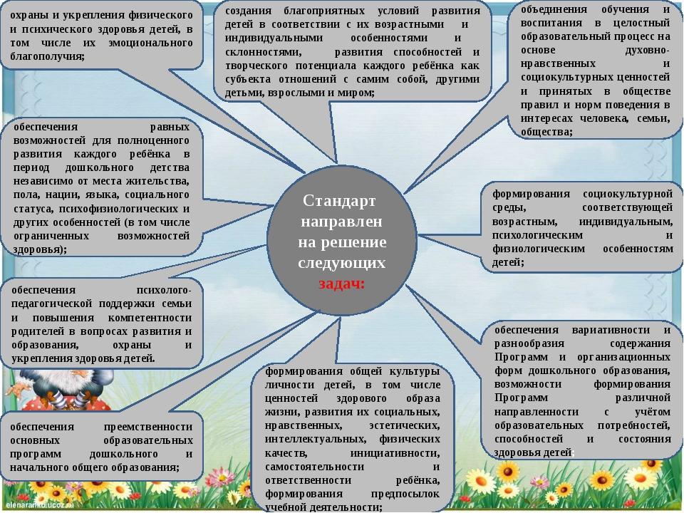 Стандарт направлен на решение следующих задач: обеспечения вариативности и ра...