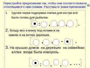 Перестройте предложения так, чтобы они соответствовали относящимся к ним схем