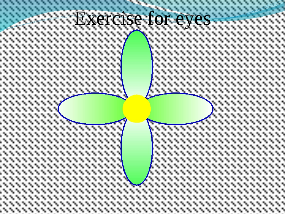 Exercise for eyes