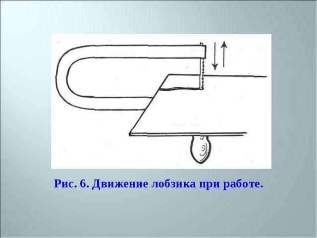 Рис. 6. Движение лобзика при работе.