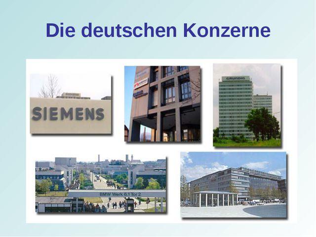 Die deutschen Konzerne