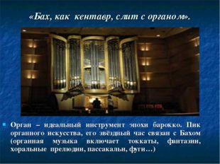 Орган – идеальный инструмент эпохи барокко. Пик органного искусства, его звёз