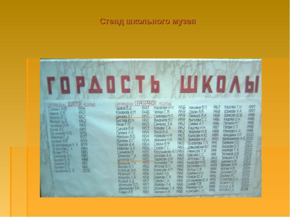 Стенд школьного музея