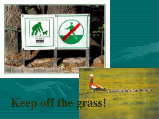 Keep off the grass!