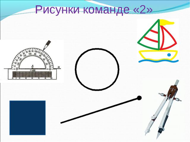 Рисунки команде «2»