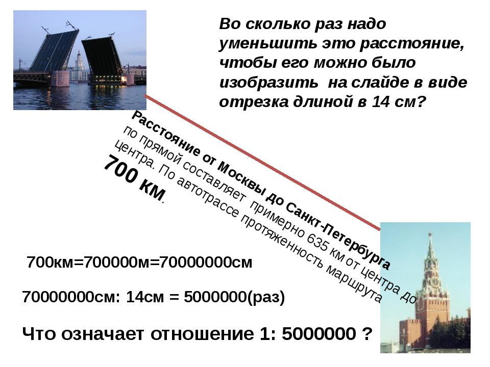Расстояние от Москвы до Санкт-Петербурга по прямой составляет примерно 635 к...