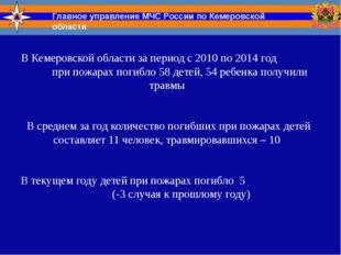 В Кемеровской области за период с 2010 по 2014 год при пожарах погибло 58 дет