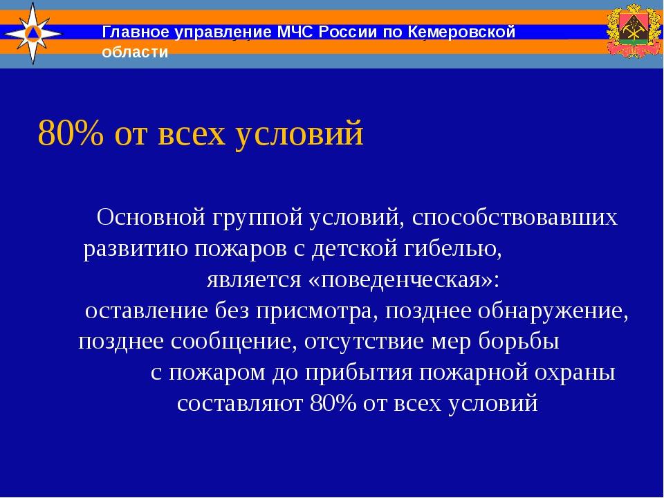 Главное управление МЧС России по Кемеровской области Основной группой условий...