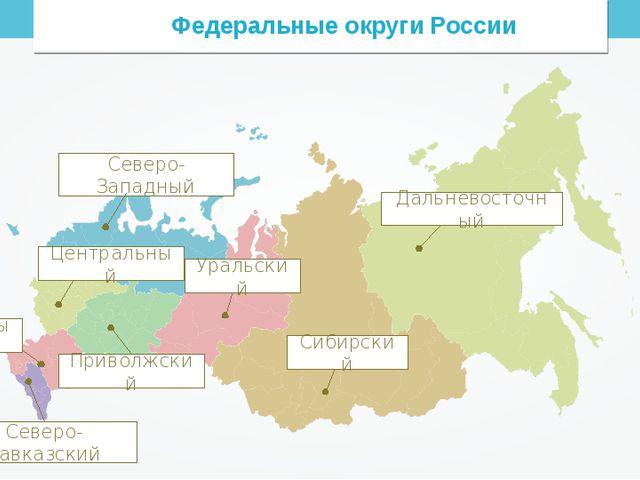 Федеральные округи России Северо-Западный
