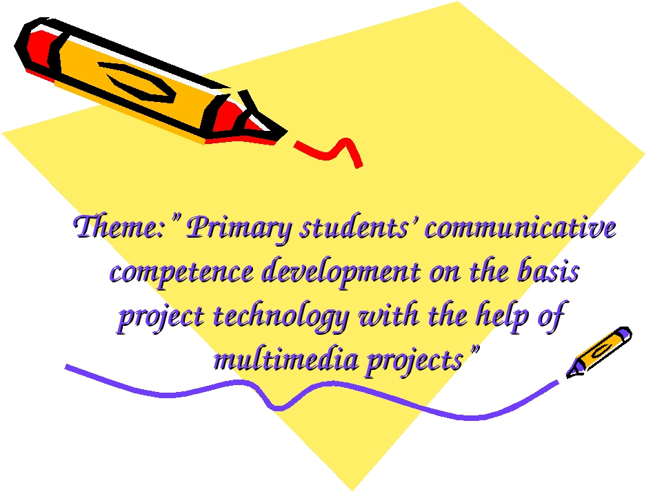 "Theme:"" Primary students' communicative competence development on the basis p..."