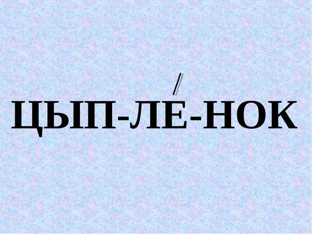ЦЫП-ЛЕ-НОК