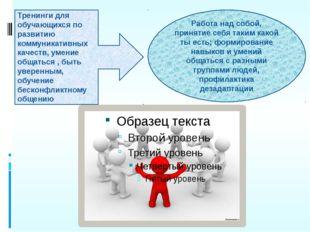 Тренинги для обучающихся по развитию коммуникативных качеств, умение общаться