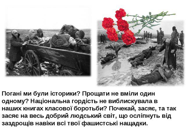 Погані ми були історики? Прощати не вміли один одному? Національна гордість н...
