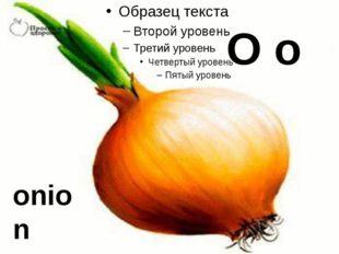 O o onion