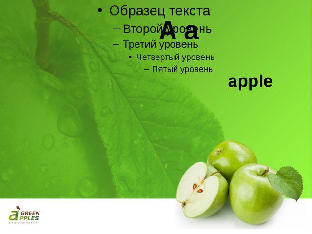 A a apple