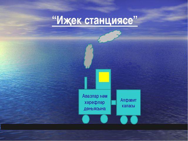 """""""Иҗек станциясе"""" Авазлар һәм хәрефләр дөньясына Алфавит каласы"""