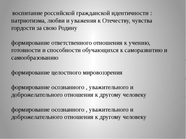 воспитание российской гражданской идентичности : патриотизма, любви и уважен...