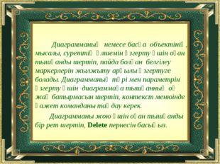Диаграмманың немесе басқа объектінің, мысалы, суреттің өлшемін өзгерту үшін