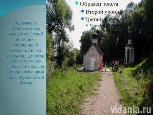 Недалеко от Куликова поля находится Святой источник - Прощенный колодец, где