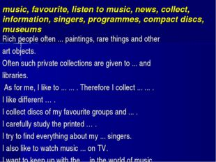 music, favourite, listen to music, news, collect, information, singers, prog