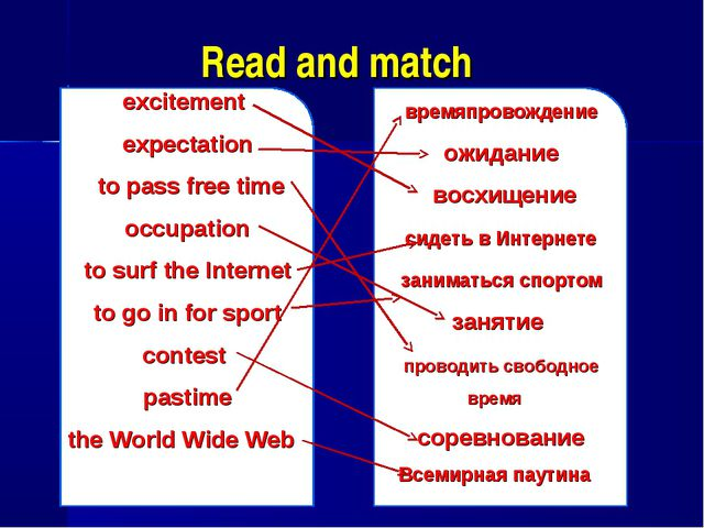 Read and match excitement expectation to pass free time occupation to surf th...