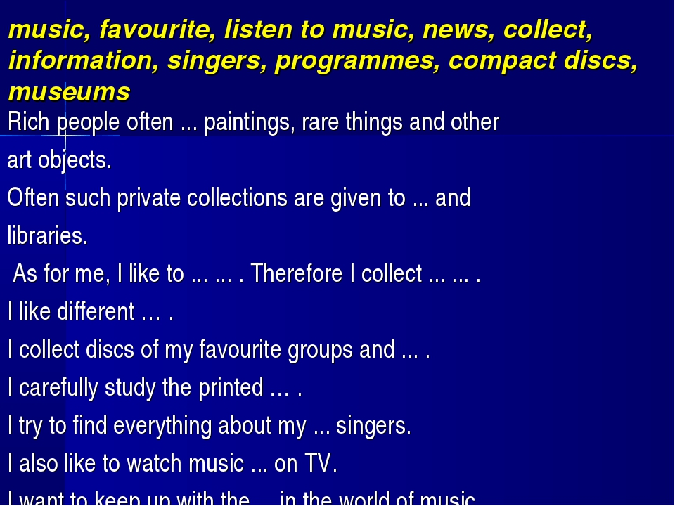 music, favourite, listen to music, news, collect, information, singers, prog...