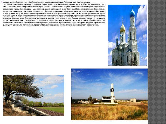 Активно ведутся благостроительные работы, город стал заметно чище и красивее....