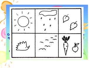 Содержание мнемотаблицы – это графическое или частично графическое изображени