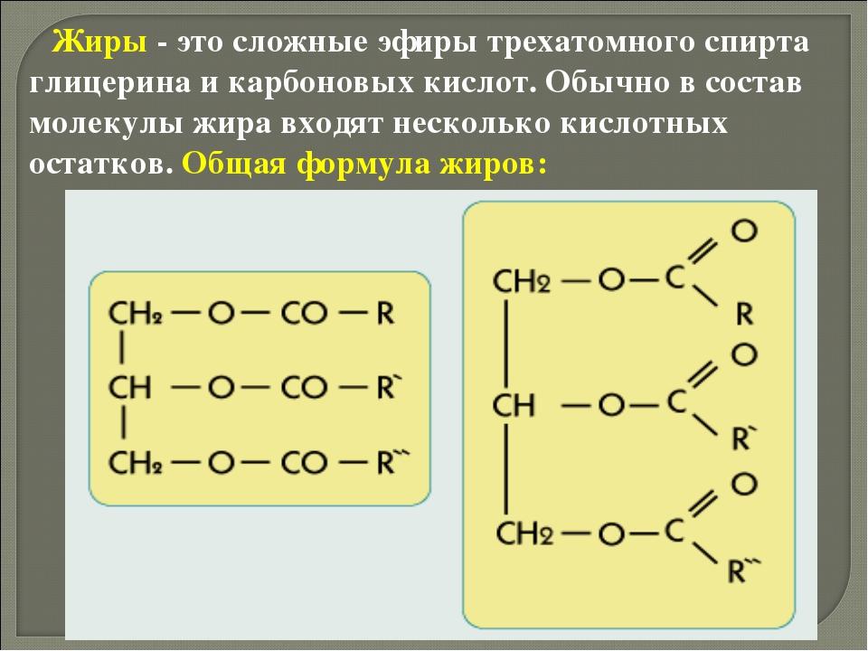 Химическая природа и строение жиров биологическая ценность липидов доклад
