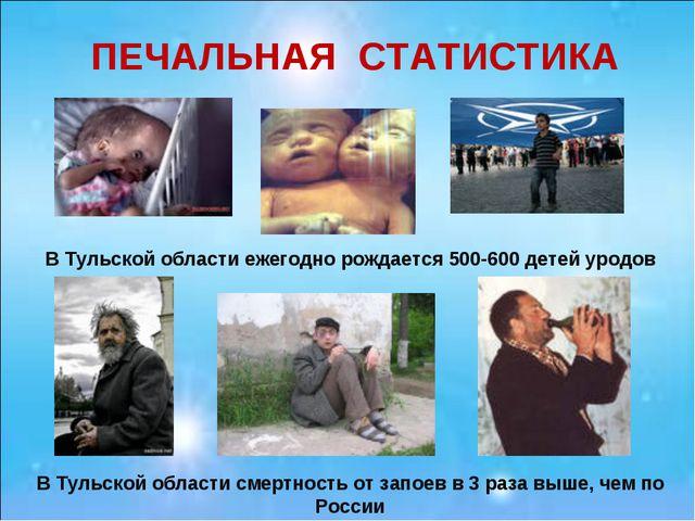 ПЕЧАЛЬНАЯ СТАТИСТИКА В Тульской области ежегодно рождается 500-600 детей урод...