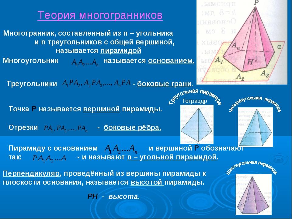 Многогранник, составленный из n – угольника и n треугольников с общей вершино...