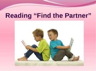 """Reading """"Find the Partner"""""""