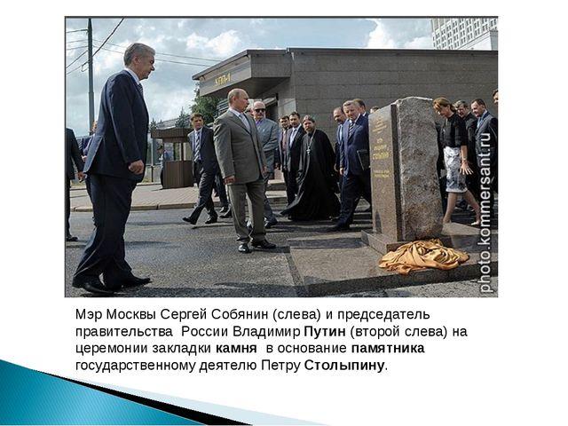 Мэр Москвы Сергей Собянин (слева) и председатель правительства России Владими...