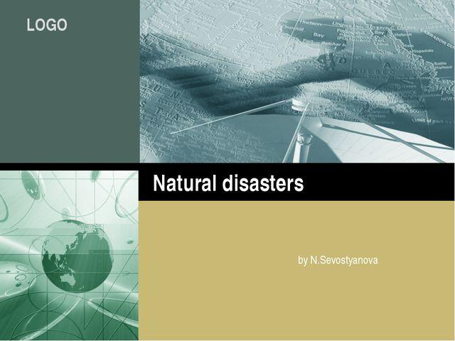 Natural disasters by N.Sevostyanova Company Logo LOGO