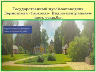 Государственный музей-заповедник Лермонтова «Тарханы». Вид на центральную час