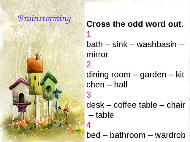 Crosstheoddwordout. 1 bath–sink–washbasin–mirror 2 diningro...