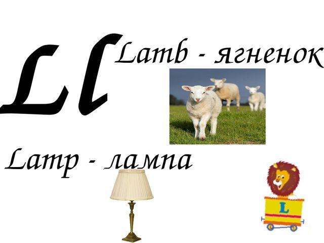 Ll Lamb - ягненок Lamp - лампа