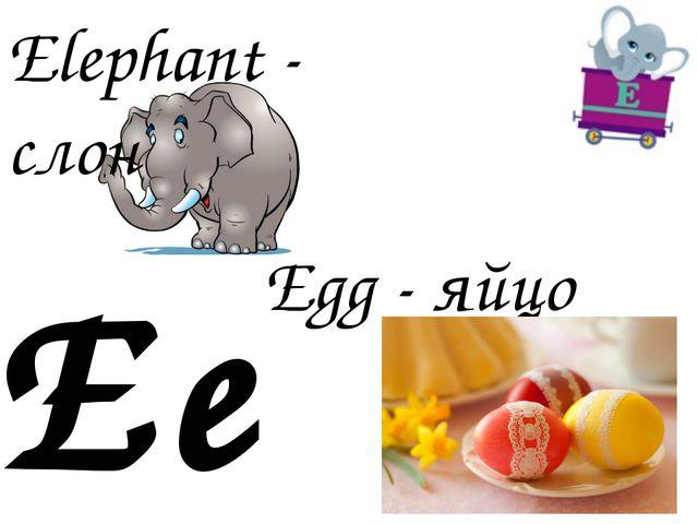 Ee Egg - яйцо Elephant - слон