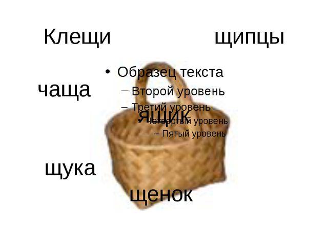 Клещи щипцы чаща ящик щука щенок