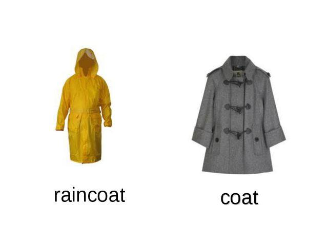 coat raincoat