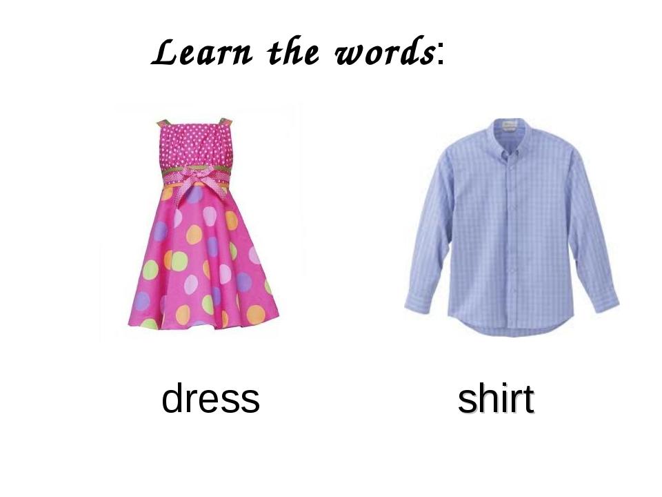 Learn the words: dress shirt