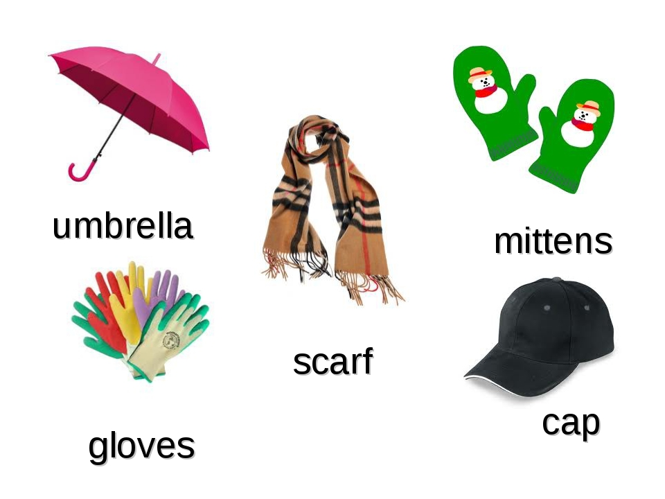 scarf umbrella gloves cap mittens