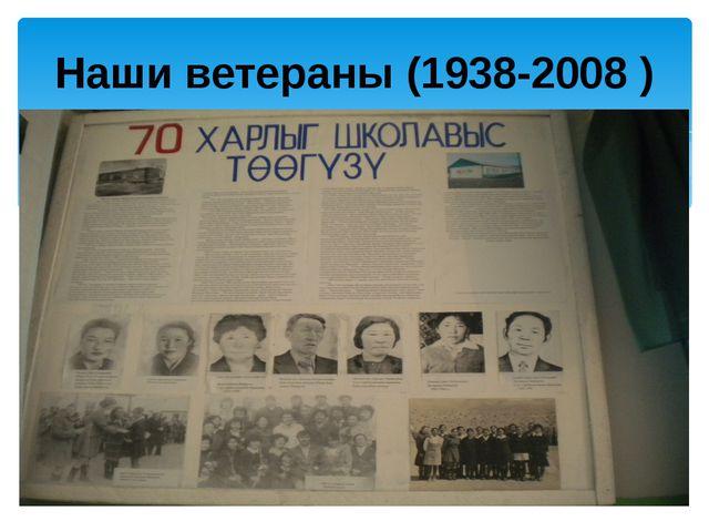 Наши ветераны (1938-2008 )