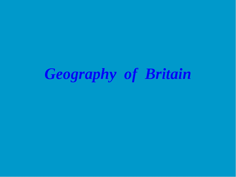 Geography of Britain