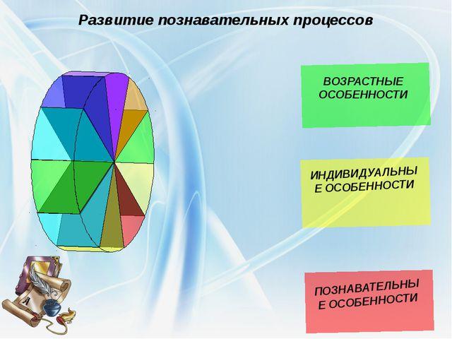 Развитие познавательных процессов ПОЗНАВАТЕЛЬНЫЕ ОСОБЕННОСТИ ВОЗРАСТНЫЕ ОСОБЕ...