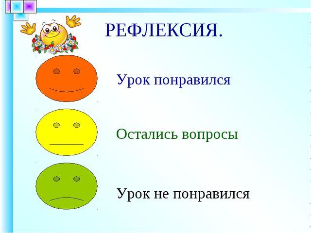РЕФЛЕКСИЯ.
