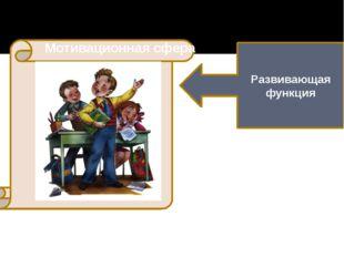 Развивающая функция Мотивационная сфера